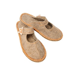 Women's Felt Butterfly Eco Slippers (Russia)
