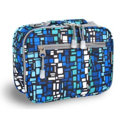 J World Blue Squares Cody Lunch Tote