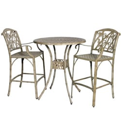 Bali 3-piece Bar Table and Stools Set