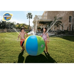 Discovery Kids Inflatable Beach Ball Sprinkler Water Toy