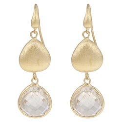 Rivka Friedman 18k Goldplated Crystal Dangle Earrings
