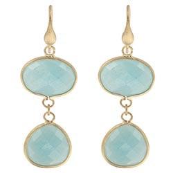 Rivka Friedman 18k Goldplated Caribbean Blue Quartzite Dangle Earrings
