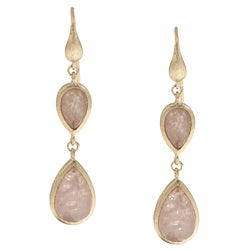 Rivka Friedman 18k Goldplated Rose Quartz Earrings