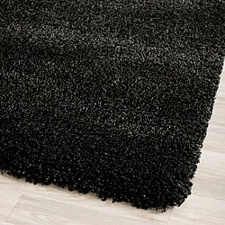 Cozy Solid Black Shag Rug (4' x 6')