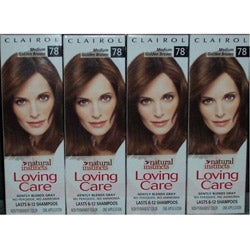 Clairol Loving Care '#78 Medium Golden Brown' Hair Color (Pack of 4)