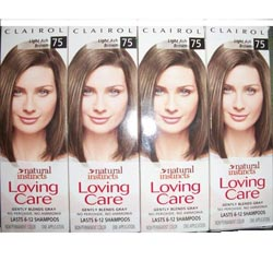 Clairol Loving Care '#75 Light Ash Brown' Hair Color (Pack of 4)