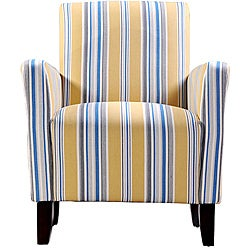 Portfolio Gia Urban Arm Chair Cabana Golden Yellow Stripe