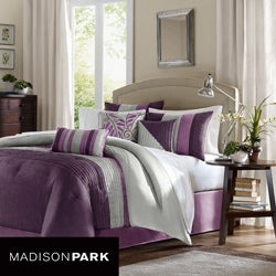 Madison Park Mendocino Purple 7-piece Comforter Set