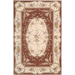 Nourison Hand-tufted French Empire Copper Wool Rug (7'3 x 9'3)