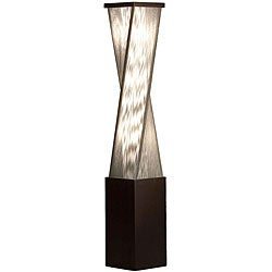 Nova Lighting 'Torque' Brown Wood Accent Floor Lamp