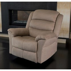 Abbyson Living Sydney Beige Microsuede Rocker Recliner