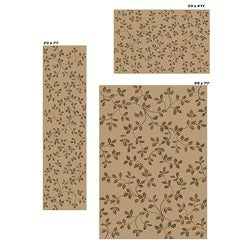 Virginia Floral Beige Rugs (Set of 3)