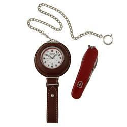 Swiss Army Pocket Watch with Tinker Swiss Army Knife Gift Set