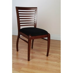 Sienna Horizontal Dark Mahogany Side Chairs (Set of 2)