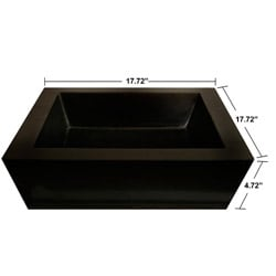 Concrete Square Incline Black Sink