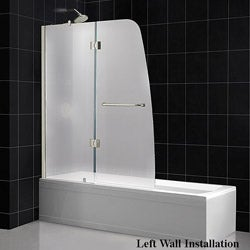 DreamLine Aqua 48x58-inch Frosted Glass Bathtub Door