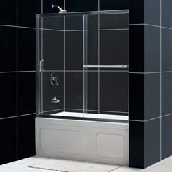 DreamLine Infinity Plus 56-60x58-inch Clear Glass Sliding Tub Door