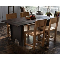 Reclaimed Teak and Metal 5-piece Dining Set (India)