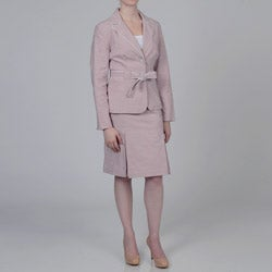 Sharagano Women's Rose Skirt Suit