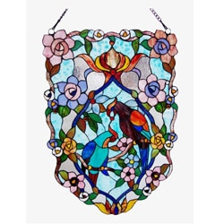 Tiffant Style Parrot Window Panel
