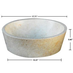 Concrete Full Moon Cream Sink