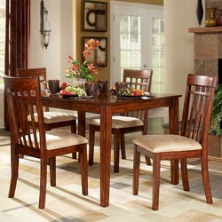 Daphne Burnished Cherry 5-piece Mission Casual Dining Set