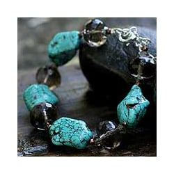 Magnesite 'Song of the Sky' Beaded Bracelet (Thailand)