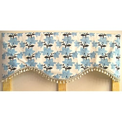 Blue Bell Valance With Tassel Trim