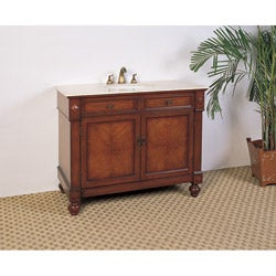 Marble Top 42-inch Single Sink Bathroom Vanity