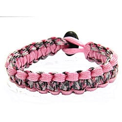 Paracord Pink and Camo Bracelet (USA)