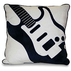 Guitar Applique Decorative Pillow