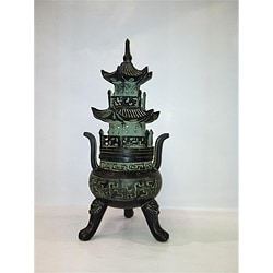 Hand-carved Bronze Chinese Pagoda