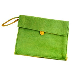 Wool Felt Lime Green Laptop Case (Nepal)
