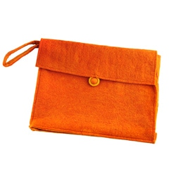 Wool Felt Tangerine Laptop Case (Nepal)