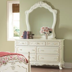 Fairytale Victorian Princess White Dresser and Mirror