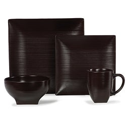 Mikasa Stoneridge Chocolate 4-piece Dinnerware Set