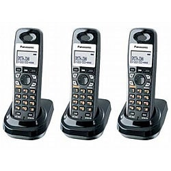 Panasonic KX-TGA930T DECT 6.0 Digital Cordless Handsets (Pack of 3)