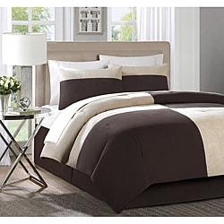 Myles Tan/ Brown 4-piece Comforter Set