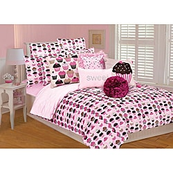 Microplush Cupcake Twin-size 2-piece Comforter Set