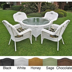Resin Wicker Outdoor 5-piece Dining Set
