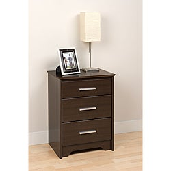 Yaletown Tall Espresso 3-drawer Night Stand