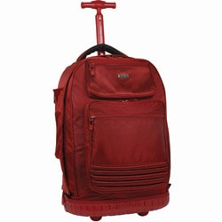 J World 'Parkway' 20-inch Red Rolling Laptop Backpack