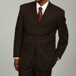Lucelli Men's Brown Notched Lapel 3-button Suit