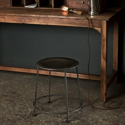 Handcrafted Iron Dining Stool with Zinc Finish (Made in India)