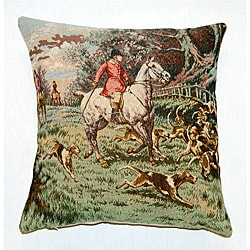 French Jacquard Woven Single Horseman Decorative Pillow