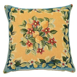 French Jacquard Lemon Decorative Pillow