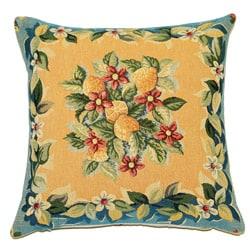 French Jacquard Lemon Decorative Pillow