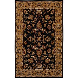Hand-tufted Persian Black Wool Rug (5' x 8')