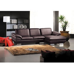 Murray Dark Brown Leather 2-piece Sectional Sofa Set