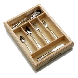 Mikasa French Countryside 45-pc Flatware Set with Caddy